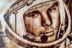 Gagarin-wood-burning