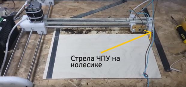 Нихромовый ЧПУ выжигатель со стрелой