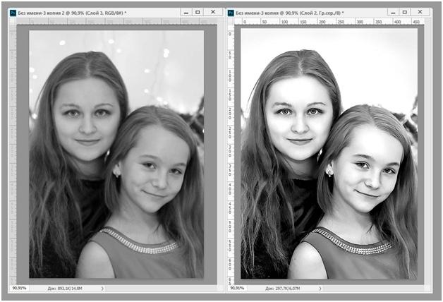обработка в фотошопе